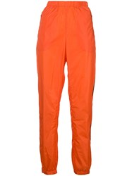 Prada Tapered Track Pants Yellow And Orange