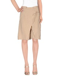 Marella Skirts Knee Length Skirts Women Sand