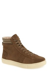 Andrew Marc New York Men's 'Remsen' High Top Sneaker Tobacco Cream Suede