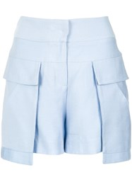 Giuliana Romanno Lace Up Skorts Polyester Blue