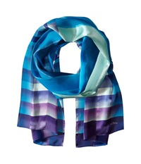 Echo Watercolor Plaid Oblong Scarf Royal Blue Scarves