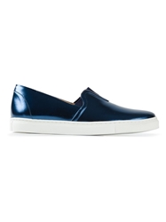 Thakoon Addition Metallic Sneakers Blue