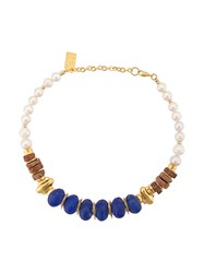 Lizzie Fortunato Jewels Bombay Blue Beaded Necklace 60