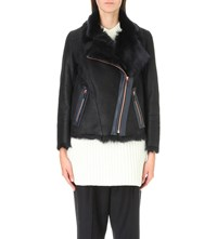 Karl Donoghue Toscana Leather Biker Jacket Eclipse