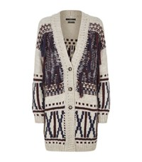 Set Knitted Tassel Detail Cardigan Female Cream