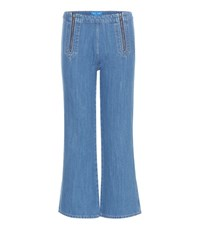 Mih Jeans Arrow Flared Cropped Blue
