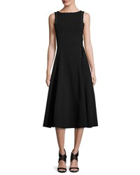 Ralph Lauren Studded Heavy Jersey Midi Dress Black