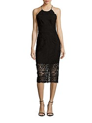 Cynthia Rowley Lace Bottom Halter Dress Black