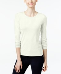 Charter Club Pima Cotton Long Sleeve Top Cloud