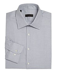 Ike By Ike Behar Geometric Regular Fit Dress Shirt Blue