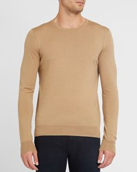 Sandro Camel Round Neck Sweater