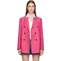 Valentino Pink Double Breasted Blazer