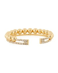 Fragments For Neiman Marcus Ball And Crystal Coil Bracelet Gold