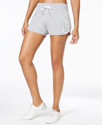 Calvin Klein Performance French Terry Logo Shorts Pearl Grey Heather