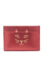 Charlotte Olympia Feline Card Holder Red