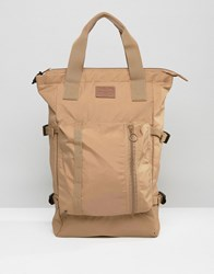 Asos Tote Bag In Camel With Strapping Camel Tan