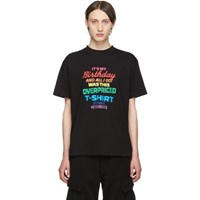 Vetements Black Birthday T Shirt
