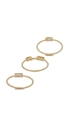 Maiyet 3 Baguette Stacking Rings Gold