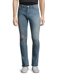 Ovadia And Sons Slim Fit Distressed Jeans Light Wash