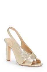 Imagine Vince Camuto By Wrennie Slingback Sandal Soft Gold Leather