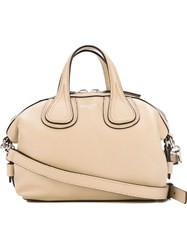 Givenchy Micro 'Nightingale' Tote Nude And Neutrals