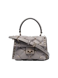 Valentino Garavani Grey Candystud Quilted Leather Mini Bag