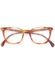 Oliver Peoples L.A. Coen Glasses Men Acetate 49 Brown