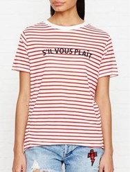 Whistles S'il Vous Plait Stripe T Shirt Red White Red White