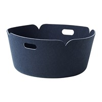 Muuto Restore Round Basket Midnight Blue