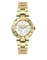 Versus By Versace Logo Goldtone Stainless Steel Bracelet Watch Sp8200015