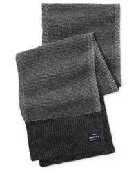 Nautica Men's Two Tone Stitched Scarf Granite Heather Multi