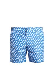 Orlebar Brown Bulldog Gilot Swim Shorts Blue White