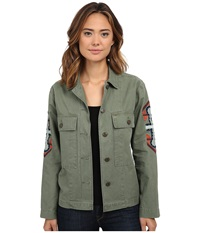 Obey Brighton Overshirt Army Women's Clothing Green