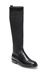 Cole Haan Lexi Grand Knee High Stretch Boot Black Leather