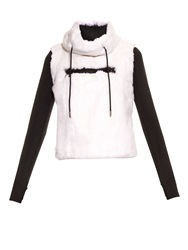 Aurelie Demel Blade Fur And Wool Blend Hooded Sweatshirt