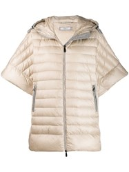 Peserico Wide Sleeves Puffer Neutrals