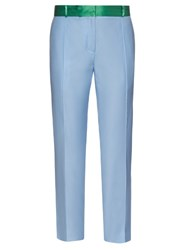 Racil Palm Beach Slim Leg Tuxedo Trousers Light Blue