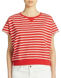 William Rast Striped Pullover Poppy