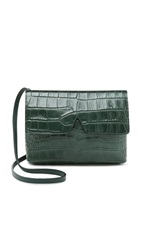 Vince Croc Embossed Cross Body Bag Forest