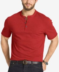 G.H. Bass And Co. Big And Tall Short Sleeve Henley T Shirt Sundried Tomato