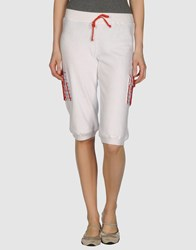 Monica Bianco Fleecewear Sweat Shorts Women White