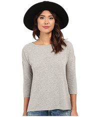 Bb Dakota Larsen High Low Hem Knit Tee Light Heather Grey Women's T Shirt Silver
