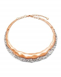 Lydell Nyc Two Tone Molten Choker Necklace Multi