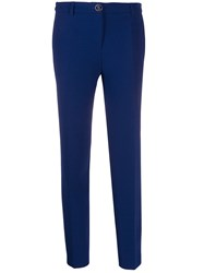 Boutique Moschino Straight Leg Trousers Blue