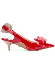 N 21 No21 Kitten Heel Slingback Pumps Red