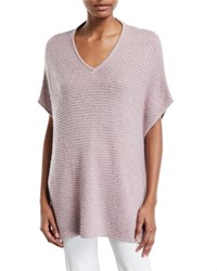 Neiman Marcus Sequined V Neck Cashmere Poncho Lilac