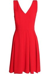 Claudie Pierlot Bow Embellished Crepe Mini Dress Red