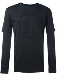 3.1 Phillip Lim Long Sleeve Circle T Shirt Black