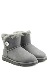 Ugg Australia Mini Bailey Bling Boots With Swarovski Crystal Grey