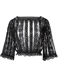 Red Valentino Lace Blouse Black